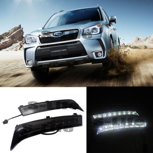 Car LED Daytime Running Light DRL Fog Driving Bulbs For Subaru Forester 8XLED