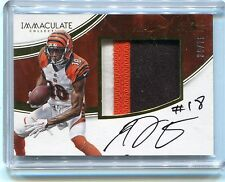2016 PANINI IMMACULATE A. J. GREEN No.AG AUTO PLAYER-WORN MATERIAL #36/75