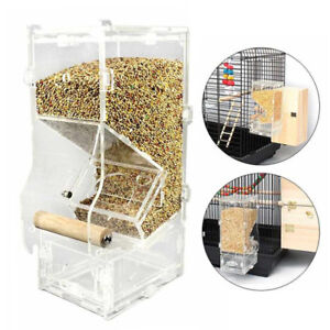 Auto-Seed-No-Mess-Bird-Feeder-Parrot-Toy-Toy-Canary-Cockatiel-Finch-Tidy-Corral