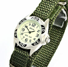 Ravel Kids Nite-Glo Luminescent Glow in the Dark Watch Army Green Fast Fit Strap
