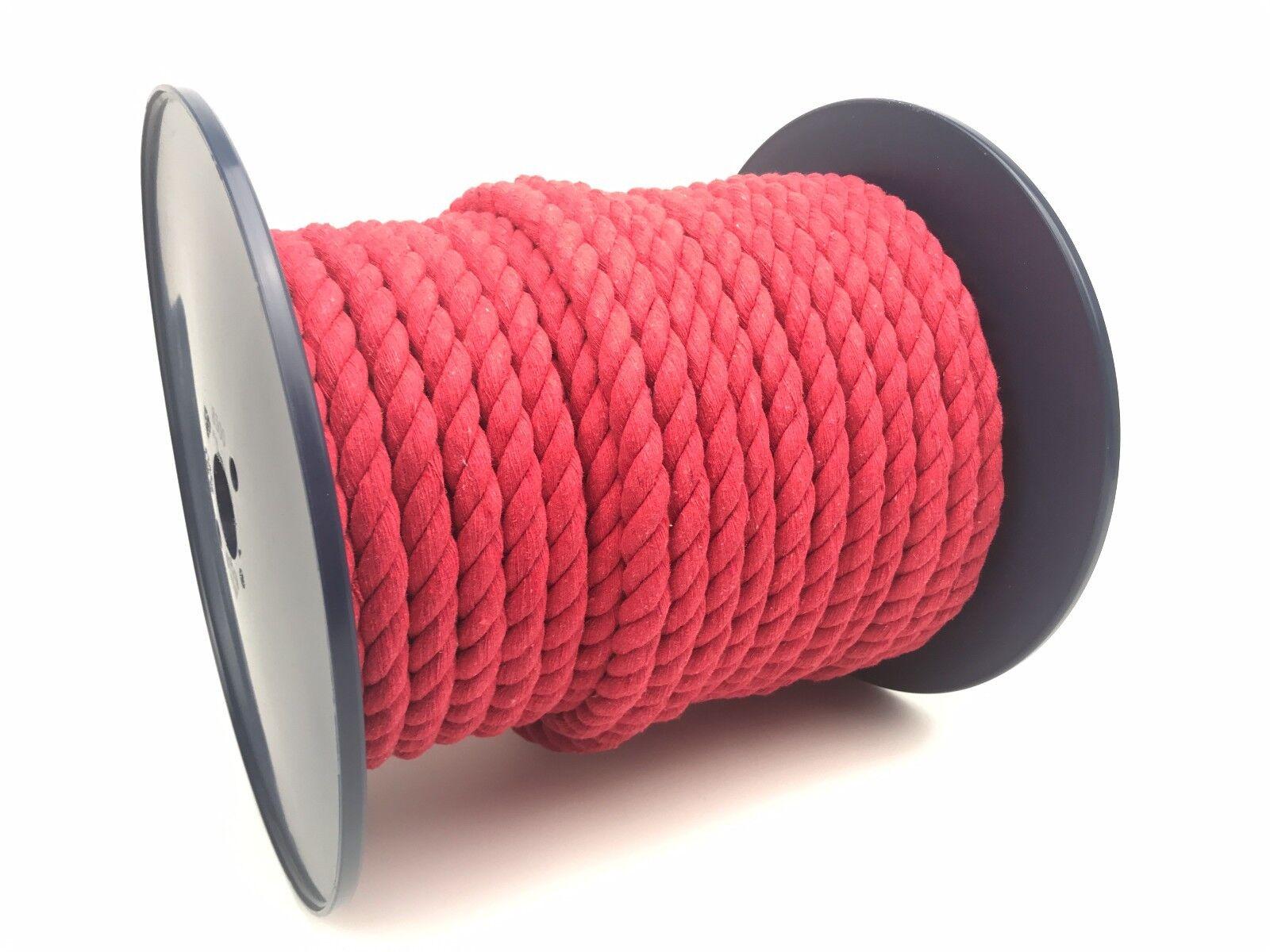 10mm rosso cotone cotone cotone naturale corda x 50 METRI rocchetto, Animali Giocattoli ARTE bf4b39