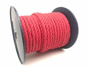 12mm-rot-naturbelassene-Baumwolle-Seil-x-100-Meter-Rolle-Tiere-Spielzeug-Kunst