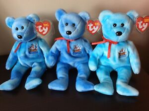 "Ty Beanie Babies ""SANTA MARIA"", ""NINA"" & ""PINTA"" the Bears MWMT 2004"