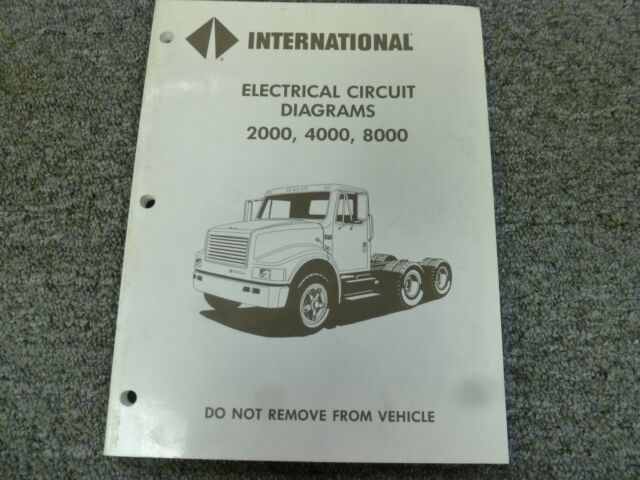 1993 International 2554 2574 2654 2674 Truck Electrical Wiring Diagrams Manual