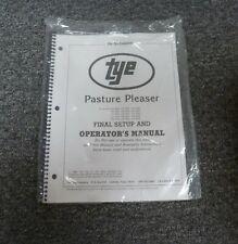 Tye 104 4404 Pasture Pleaser No Till Drill Final Setup Amp Owner Operator Manual