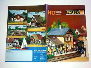 catalogue dépliant FALLER selection chaville train gare HO chateauneuf zeven