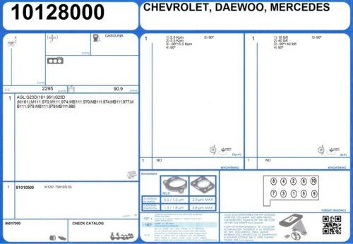 2000 - Cylinder Head Bolt Set Mercedes SLK 230 Kompressor 16 V 2.3 197 MB111.983
