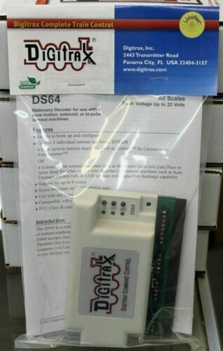 Any Scale DIGITRAX  DS64 Stationary Decoder used with 4 Slow Motion T//O Machines