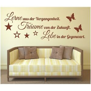 Wandtattoo-Spruch-Lerne-Traeume-Lebe-Leben-Wandsticker-Wandaufkleber-Sticker