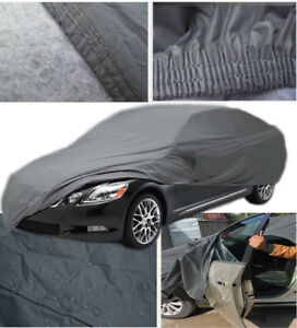 Luxurious-Heavy-Duty-Thick-Waterproof-Outdoor-Quality-Car-Cover-2-Layer-Size-XXL