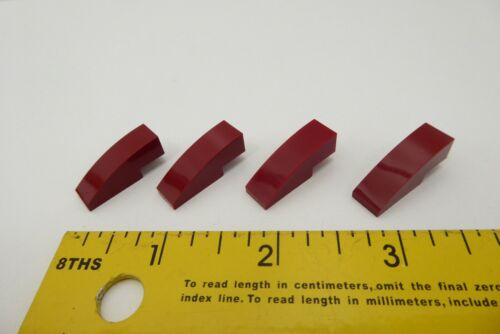 Lego 50950 Slope Curved 3 x 1 Dark Red 4x Details about  /