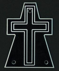 Ambitieux Gravé Guitare Truss Rod Cover-s' Adapte Jackson-cross-oversize Xl-noir-afficher Le Titre D'origine