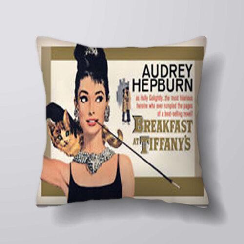 Chat audrey hepburn imprimé housses de coussin taies d/'oreiller home decor ou intérieur