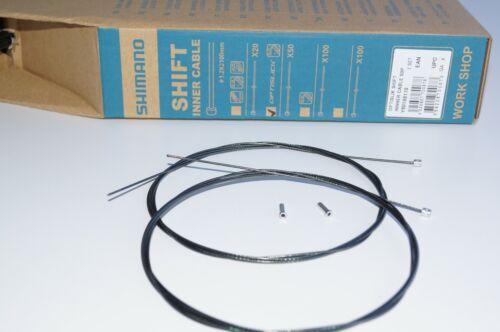 2x Shimano OptiSlick Inner Shift Derailleur Cable 1.2mm x 2100mm