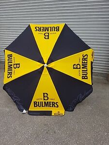 Bulmers-cider-1-8-MTR-ROUND-PARASOL-PUB-GARDEN-CAFE-YELLOW-BLACK-BRAND-NEW