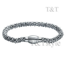 Quality TT 6mm Soft S.Steel Popcorn Magnet Buckle Bracelet Mens & Womens  (BR98)