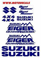Suzuki Eiger Quad Runner Plastic Decal Sticker Fender Tank Emblems Graphics Kit