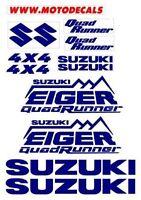 Suzuki Eiger Quad Runner Plastic Decal Sticker Fender Tank Emblems Graphics Kit