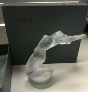 Lalique France Crystal Female Dancer Figurine For Sale at