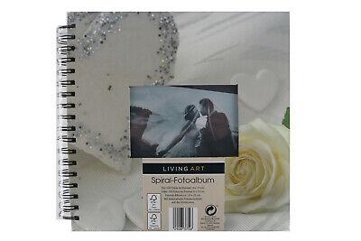 1045 LIVING ART SPIRAL FOTOALBUM HOCHZEITS VERLOBUNGSALBUM 25 x 25cm   *NEU*