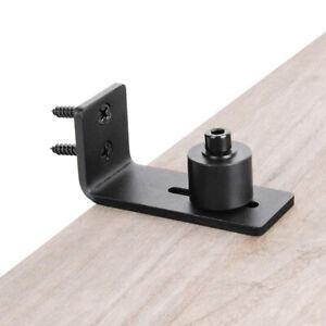 Black Sliding Barn Door Floor Bottom Guide Wall Roller ...