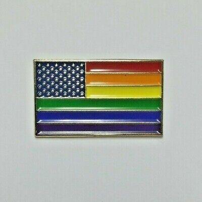 "NEW America Flag Enamel 1/"" Lapel Pin United States USA VOTE American US TRUMP"
