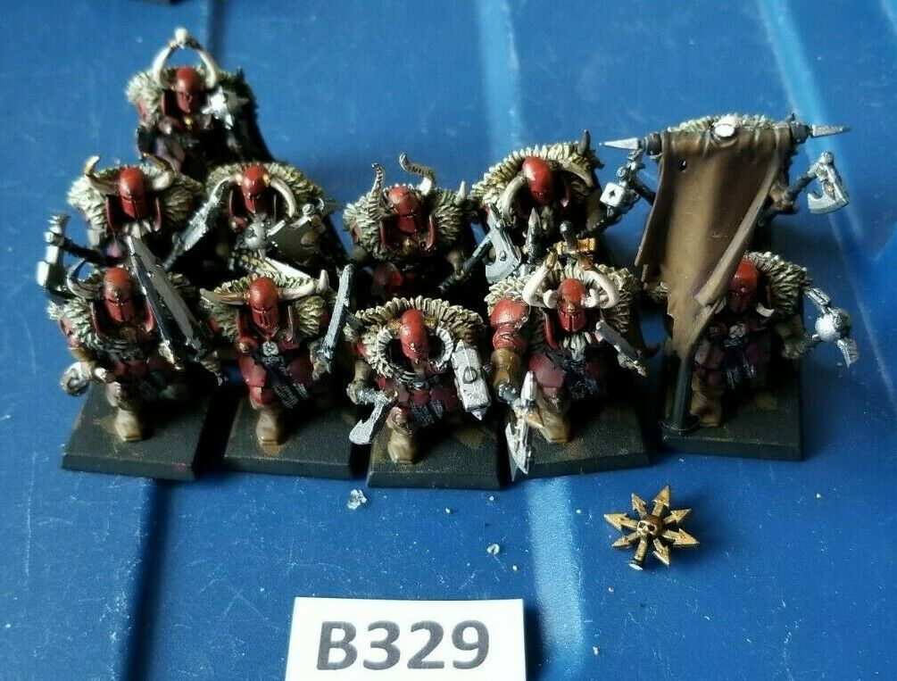 GW Warhammer AoS AoS AoS Bloodbound Chaos Warriors Unit Plastic Base Coated 73bacb
