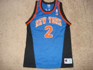 online store 75e44 e15c0 Details about Vintage Champion New York NY Knicks Larry Johnson LJ Jersey  44 SUPER RARE 40