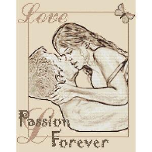 Passion-Forever-sepia-diseno-de-punto-de-cruz-kit-o-el-cuadro