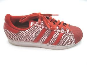 bas prix 960d4 fe586 Adidas Superstar red leather sneakers mens athletic tennis ...