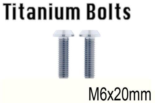 US Seller x2 Titanium Ti Bolt M6x20mm Tapered Torx T30 M6 20L Bicycle Screw