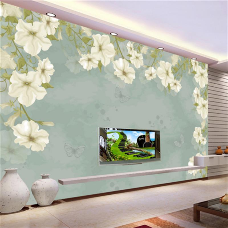 3D Weiß Flower Leaves 832 Wallpaper Mural Paper Wall Print Wallpaper Murals UK
