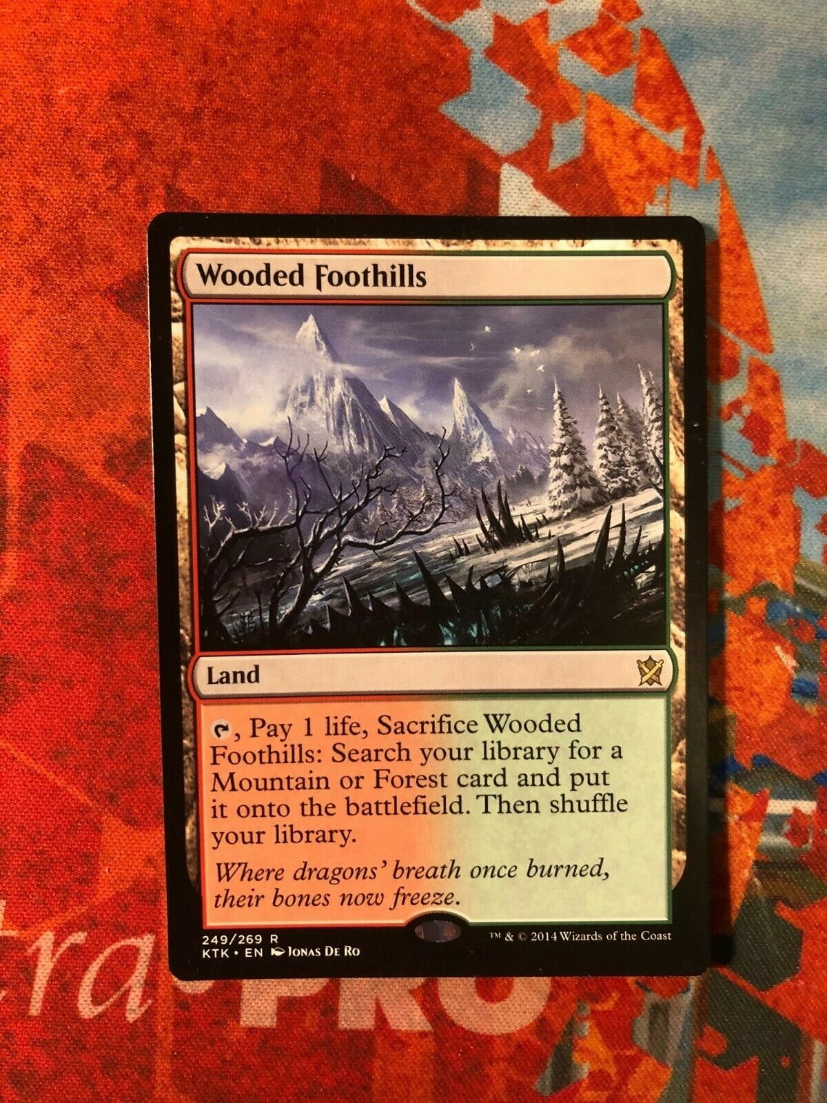 249//269 - Khans of Tarkir Wooded Foothills Magic: the Gathering