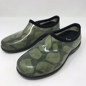 Sloggers-Womens-Garden-Shoes-Leaf-Green-Size-7