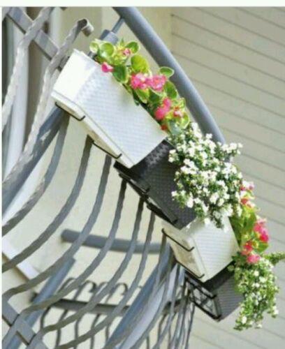 HQ Ratolla flower pot with hangers,49 cm balcony window box 4 colours rattan PW