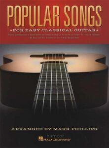 Chansons Populaires Pour Easy Classical Guitar Tab Music Book-afficher Le Titre D'origine Les Produits Sont Vendus Sans Limitations