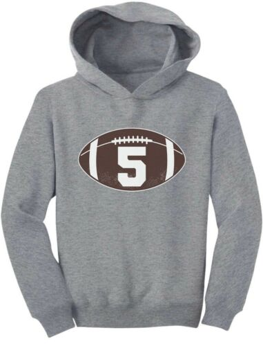 Gift For 5 Year Old Boy Football 5th Birthday Toddler Hoodie Bday