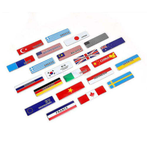 2pcs Flag Sverige Racing Badge Metal Side Rear Trunk Emblem Decals Sticker