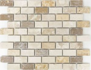 Beige-creme-Mix-Travertin-Mosaik-Fliesen-Stein-Bad-Kueche-43-46474-f-10-Blatt