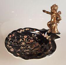Seifenschale Porzellan Schale Dose Engel Bronze Muscheln