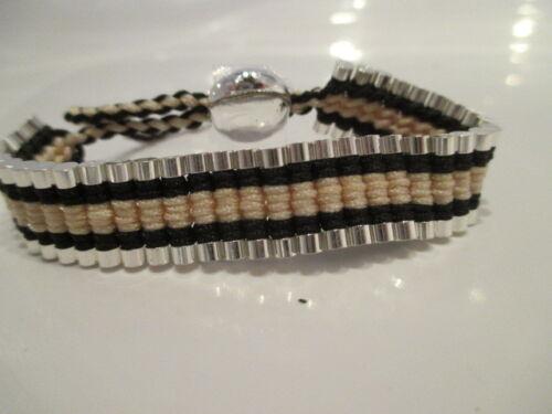 los vínculos de tejido de barras de acero estilo por Londres Pulsera De Amistad Colorido