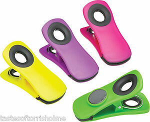 Kitchen-Craft-4-Large-Colourful-Chunky-Grip-Clip-Peg-Fridge-Magnets-7-x-3-5cm