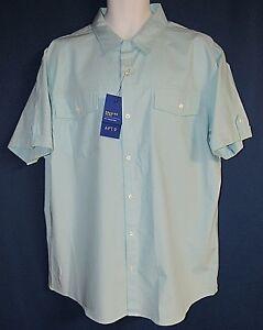APT-9-Premier-Flex-Slim-Fit-Men-039-s-XXL-Short-Sleeve-Shirt-Easy-Care-New-Tags