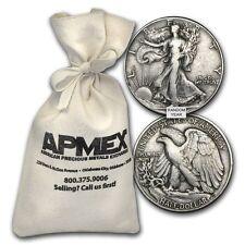 90% Silver Walking Liberty Half-Dollars $50 Face-Value Bag - SKU #88202