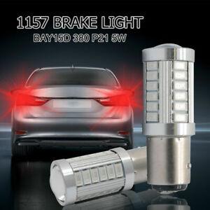 2x-BAY15D-1157-380-P21-5W-5630-33-LED-LAMPADA-POSTERIORE-FRENO-LAMPADINA-ROSSO