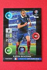 ADRENALYN ROAD TO UEFA 2016 FRANCE BENZEMA TEAM MATE 87  MINT!!!!