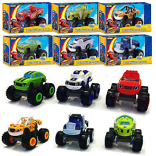 6pcs Blaze and The Monster Diecast Toys Machines Vehicles Racer Cars Trucks Kid