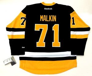 official photos e5182 e26f7 Details about EVGENI MALKIN PITTSBURGH PENGUINS REEBOK PREMIER THIRD JERSEY  2017 NEW