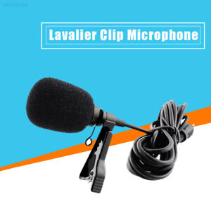 C5A5 External Clip-on Lapel Tie Lavalier Microphone 3.5mm Jack For iPhone PC