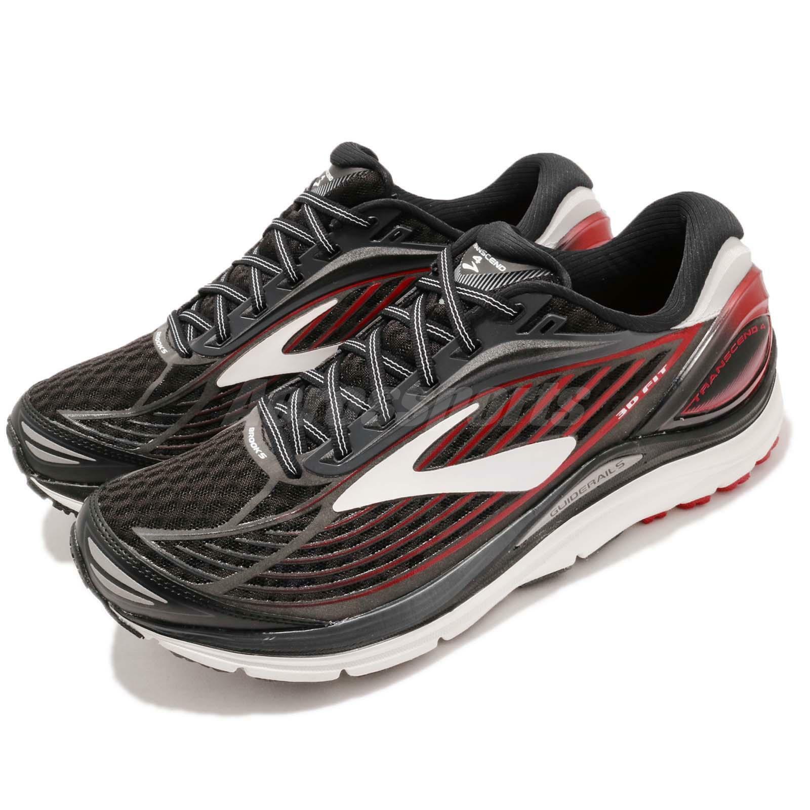 Brooks Transcend 4 Negro blancoo Rojo Hombres Correr Entrenamiento Calzado Tenis 110249 1D